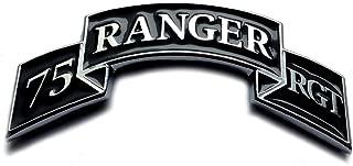 RLTW! 75th Ranger Regiment Scroll Metal Decal Sticker Emblem for Car Truck Auto US Army