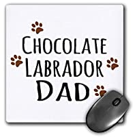 """3D Rose"""" Chocolate Labrador Dog DadDoggie By BreedLab Brown Muddy Paw PrintsDoggy LoverPet Owner"""" Matte Finish Mouse Pad-Mp_153888_1"""