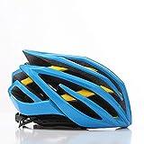 LIUDATOU Casco de Bicicleta de montaña para Hombre/Mujer de Carretera El Mejor Casco de Bicicleta Bicicleta de Ciclismo de MTB, Azul