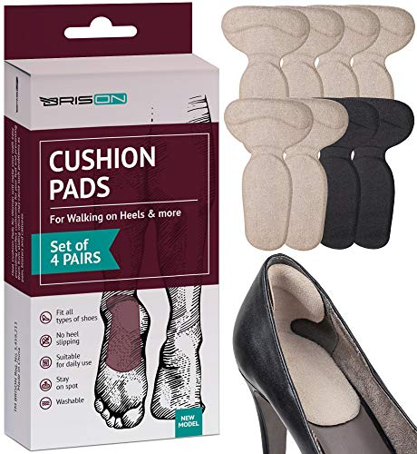 Heel Cushion Pads for Women and Men - 4 Pairs -...