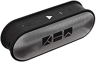 Kew Labs K1 Wireless Bluetooth Speaker - Premium Quality Sound and Bass - Portable Waterproof Pill Design - 12hr Battery Life - Featuring Built-in Mic for Calls (Silver)