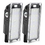 Fydun Luces de matrícula Placa de matrícula Lámpara de luz LED 2 UNIDS 1.8W Iluminación de matrículas para Clio Espace Laguna Megane
