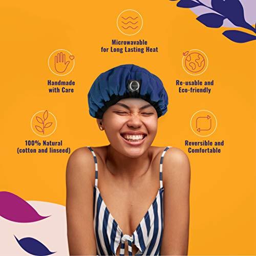 Bonnet Chauffant pour Soins Capillaires, Onyris, 100% Naturel aux Graines de Lin pour Tous Types et Textures de Cheveux