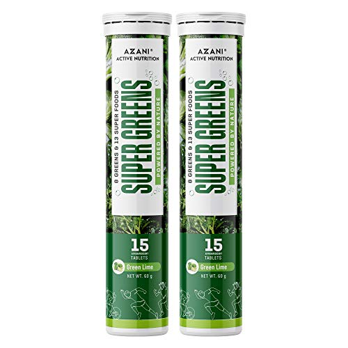 Azani Active Nutrition Supergreens Natural Wholefoods for Immunity & Detox with 21 Essential Foods...