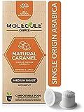 Caramel Nespresso Compatible Compostable Pods by Molecule – Medium Roast, Arabica, Single-Origin, High-Grown Espresso & Lungo | OriginalLine | 10 Coffee Capsules