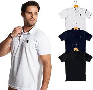 Kit com 3 Camisas Polo Basic Sortida Masculino Polo Match