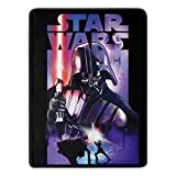 Star Wars Micro Raschel Throw Blanket, 46 x 60 Inches, Darth Night