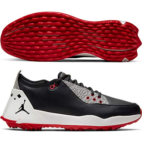 Nike Jordan ADG 2 Golf Shoe Black/Black-Summit White-University RED - 10