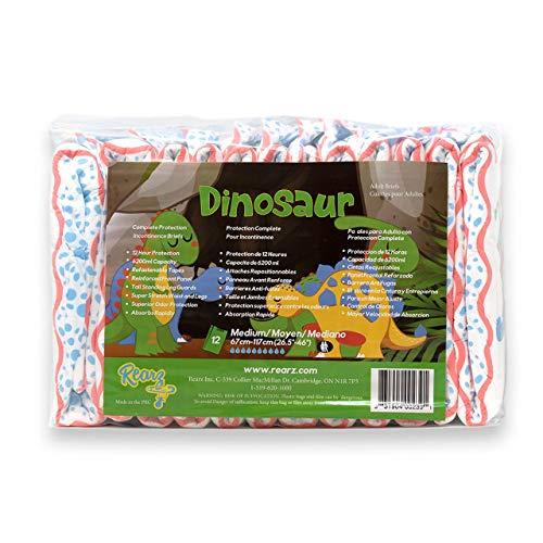 Rearz - Dinosaur - Elite Adult Diapers (12 Pack) (Large)