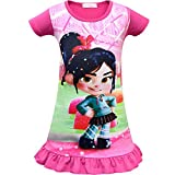 Cercur Girls Dress for Wreck-It Ralph Vanellope Baby Sugar Rush Party Dress up Costumes Pajama Nightgown