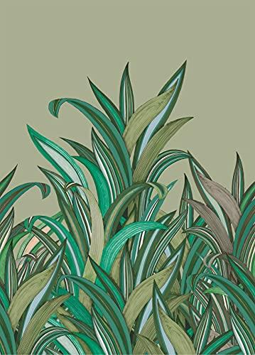 Rasch Tapeten 542226 aus der Kollektion Amazing-Fototapete mit buntem, natürlichen Gräsern in Grün, Hellblau und Hellbraun Hintergrund-Vliestapete in Größe: 2,80 2,00 m (L x B) Tapete