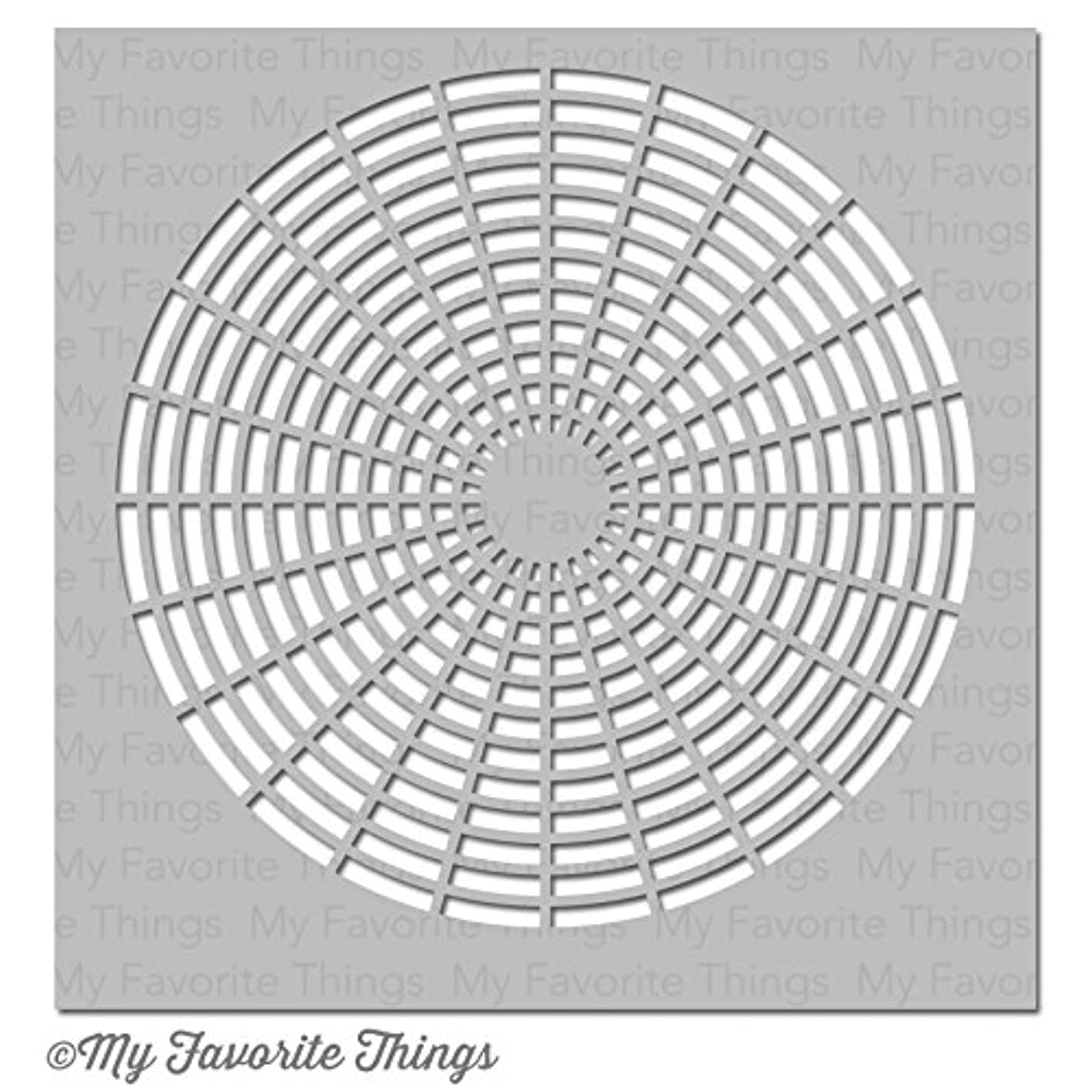 My Favorite Things MFT-ST-81 Mixables Stencil 6 x 6 in. - Concentric Cirlce Grid