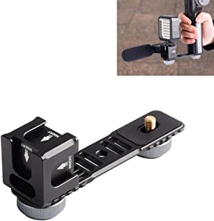 Quadruple Cold Shoe Stabilizer Mounts - Aluminium Hot Shoe Mount Plate Adapter for Zhiyun Smooth 4 & Q/DJI OSMO Mobile & 2/Feiyu Gimbals and All Major Stabilizer Accessories