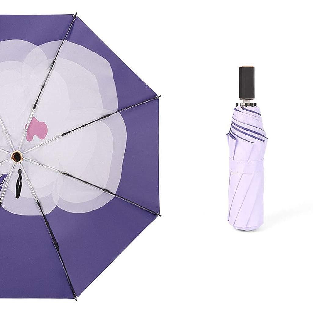 世界的にかみそりファンネルウェブスパイダーラオハオクラシック傘 傘ポケット傘超軽量紫外線防止ポータブルデュアルユース風耐性速乾性93センチ×53センチ紫色の花 LAOHAO