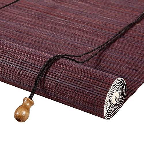 Bambusrollo Sonnenschutzrollos Im Freien Für Terrassen-Markisenfenster - Bambus, Einfach Anzuschließen, 85cm / 105cm / 125cm / 145cm Breit (Size : 145×160cm)