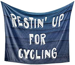 Restin' Up for Cycling Blanket (Plush Fleece), Cyclist Bicyclist Bicycling Biker Bike Riding Biking Present