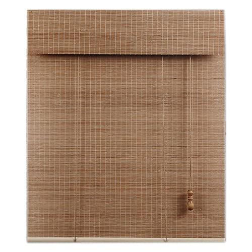 Lqdp Estores Enrollables Persianas enrollables de Color de bambú para Ventanas, protección contra Rayos Ultravioleta, persianas enrollables de bambú con Filtro de luz para salón de té, Hotel,