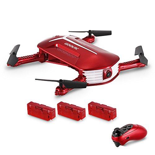 GoolRC Drone Droni con Camera T37 Mini Telecamera Pieghevole Quadcopter 720P HD FPV Drone UAV Controllato Motional con 2 batterie Bonus (T37 Mini)