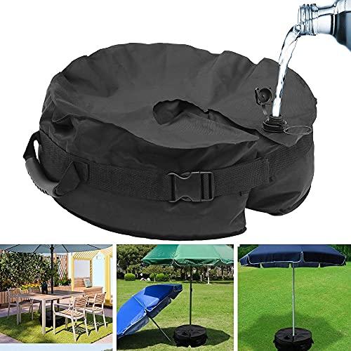 Sonnenschirmständer Schirmständer Sonnenschirm Ständer 420D, Rund Sonnenschirmfuß Gewicht befüllbar bis 50 lb, Schirmgewicht Beschwerungsplatten Base Weight Bag für alle Outdoor-Sonnenschirm