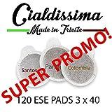 Cialdissima 120 ESE Pads - Espresso Pods - Drei Mischungen - MISCHPAKET