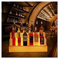 酒棚-PE酒瓶の陳列棚3層LED照明付き酒瓶の陳列家庭用商業用バーの照明付き瓶棚リモコン付きの照明棚.