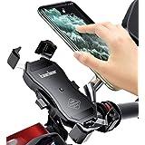 Kaedear(カエディア) バイク スマホ ホルダー usb スマホホルダー バイク用 【 クイックホールドUSB 】 充電 携帯ホルダー iphone galaxy android スマートフォン 充電器 電源 QC3.0 18W スイッチ ミラー マウント 360度回転 スイッチ 原付 オートバイ(USB)