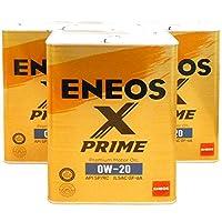 【3缶セット】 ENEOS X PRIME (エックスプライム) エンジンオイル 0W-20 SP/RC GF-6A (100%化学合成油) 4L×3缶