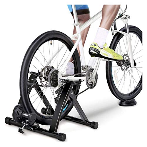 Fluid Bike Trainer Stand, Indoor Turbo Trainers With Variable Resistance, Noise Reduction, Folding Bicycle Training Stand for Indoor Riding Training And Exercise ( Size : 27.5-29'' wireless )