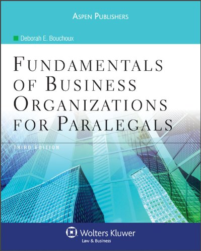 Fundamentals of Business Organizations for Paralegals 3rd...