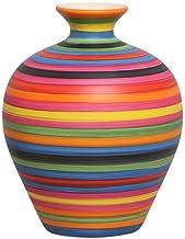 Vaso Decorativo Topázio P Enfeite Cerâmica Colors, Joelma Decorações, Colorido