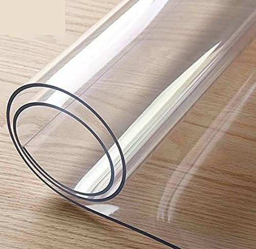 GSPURS PVC Protector de Mesa Transparente de Protector de Mesa Impermeable Transparente Protector para mesas de Cocina,mesas de Comedor,Mantel,Mesa de Escritorio1.6 mm(Size: 125x190cm/49x75in)