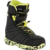 Bateau de snowboard pour enfant Nitro Rover QLS 2016Youth Boots de snowboard pour, Noir/vert lime