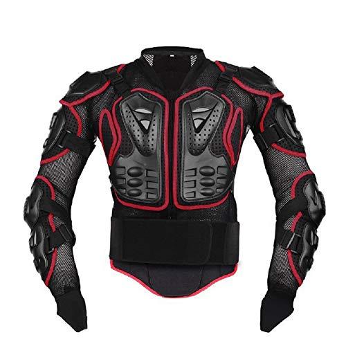 Lacyie - Chaqueta Armadura para Moto, Chaleco, protección para Equipo de Motocross, Scooter, Bicicleta de montaña y Enduro, para Hombre o Mujer