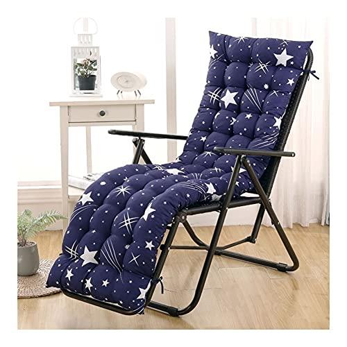 Balancín cojín para patio jardín o silla reclinable gruesa cojín terraza manta para viaje vacaciones (silla no incluida)., d, 55*153cm