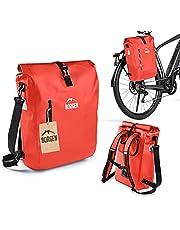 Borgen fietstas voor bagagedrager 3-in-1 fietsrugzak I bagagedragertas I schoudertas - combi fietstas - 100% waterdicht en reflecterend met afneembare laptoptas