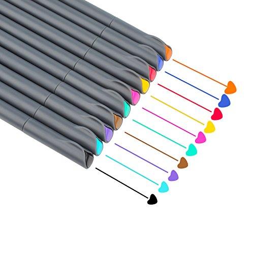 Niutop Art colorato disegno matite per disegnatore/adulti Secret Garden Coloring Book/bambini artista di scrittura/manga opera 10 Fineliner Pens