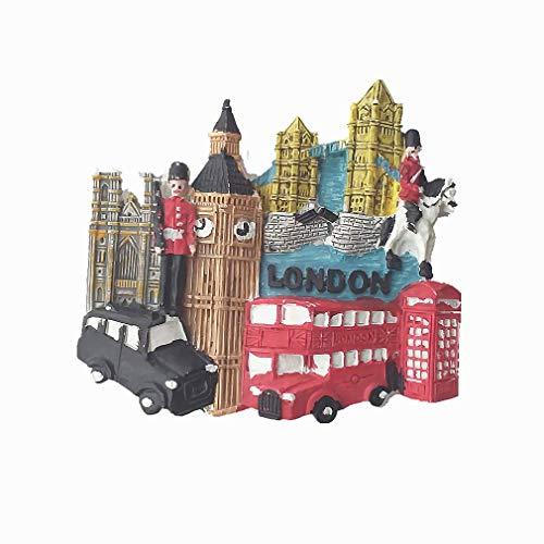 Calamita da frigorifero 3D di Londra, Inghilterra, regalo turistico, decorazione per la casa e la cucina, magnete per frigorifero Londra Regno Unito
