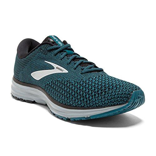 Brooks Mens Revel 2 Running Shoe - Black/Blue/Grey - D - 8.0