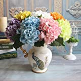 Ramo de flores de hortensias de seda artificial para la novia hogar decoración de la boda barato europeo florero mesa arreglo falso flores