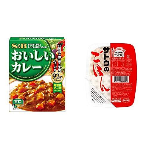 【セット販売】S&B なっとくのおいしいカレー 甘口 180g×6個 + サトウのごはん 新潟県産コシヒカリ 200g×20個
