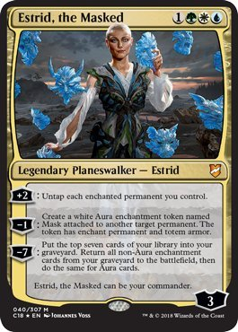 Magic: The Gathering - Estrid, the Masked - Foil - Commander 2018