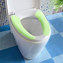 Tzichi - Toilet Seat Covers - Pasting Household Toilet Seat Cover Mat Warm Soft Flannel Winter Eco Friendly Home Bathroom Warming - Hijab Rugs Portable Half Public Commercial Size Seat Large Gray Comf