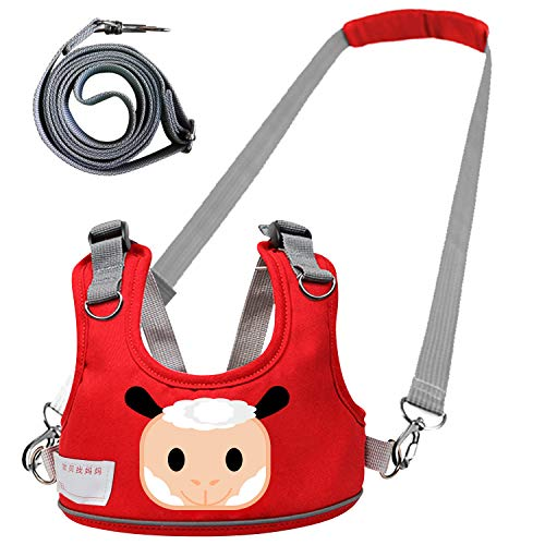 Jasonwell Arnés para Caminar Bebés 4 en 1 Arnés de Seguridad para Niño Niña Infantil 1 a 8 Años Arnes Ajustable Respirable Andadera de Aprendizaje Caminadora para Bebe con Cinturón Antipérdida Desmontable de 1.35 cm