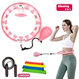 Smart Hula Hoop,Weighted Non-Dropping Detachable Hula Hoop with Record Data counter,Indoor & Outdoor exercise kit,Abdomen slimming waist Fitness Weight Loss,Increase Beauty tools for Adults Kids 6 pcs