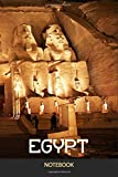 Egypt Ancient Abu Simbel Temples At Night, Ancient Egyptian Civilization Journal Notebook Souvenir Diary: 100 Blank Ruled: Egyptian Pharaohs Era, ... Journal Quotes Diary Notebook Gift Design