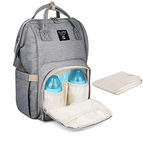 PomeloBest マザーズバッグ 大容量マザーズリュック ベビー用品収納 保温機能ポケット おむつ替えシート付き 出...