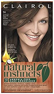 Clairol Natural Instincts, 5A / 24 Clove Medium Cool Brown, Semi-Permanent Hair Color, 1 Kit by Clairol