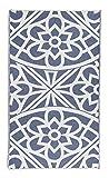 Bersuse Santorini - Toalla turca 100% algodón orgánico, 94 x 178 cm, Color Azul Marino