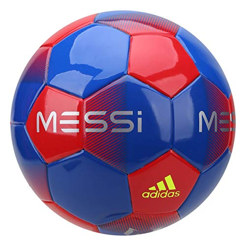 adidas Messi Mini Ball, Hombre, Football Blue/Active Red/Silver Met./Solar Yellow, 1
