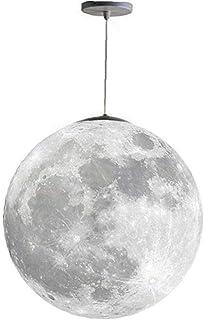 OMMO LEBEINDR Techo Luna Colgante De La Lámpara De Luz con Lámparas De Araña 3D Impresión De Control Remoto Led Bombillas Planet para Niños Dormitorio Lámparas Decorativas Oficina